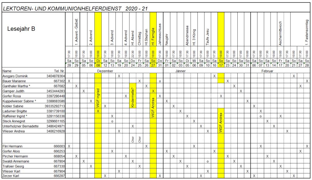 Lektorenplan Dez-Feb 2020-21