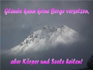 Glaube ver. Berge